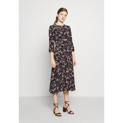 ラルフローレン ワンピース レディース トップス PRINTED MATTE DRESS - Day dress - black/pink/multi