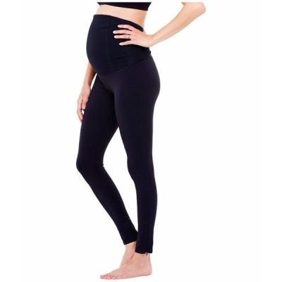 イングリッドアンドイザベル カジュアルパンツ ボトムス レディース Maternity Active Leggings w/ Crossover Jet Black