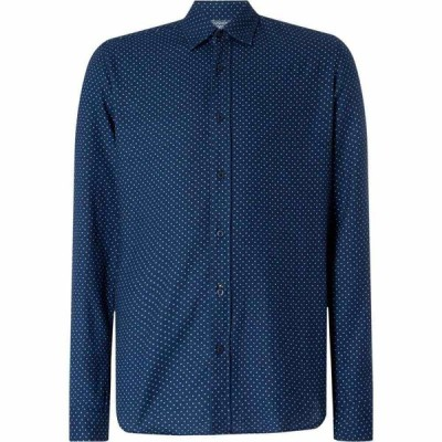ヒューゴ ボス Boss メンズ シャツ トップス Reggie Brushed Micro Dot Shirt Navy