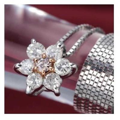 プロスペル ピンク ダイヤモンド K10WG PG ゴールド ペンダント ネックレス