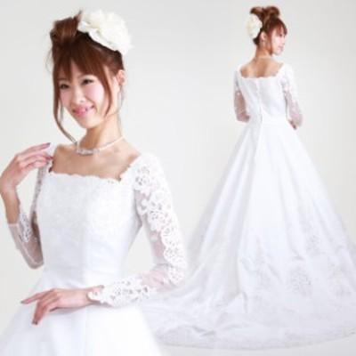 ウェディングドレス レンタル 7号 Aライン ウエディングドレス ウェディング ドレス 披露宴 6207 送料無料