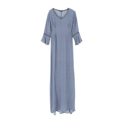 JUSTMINE ロングワンピース&ドレス パステルブルー XL レーヨン 100% ロングワンピース&ドレス