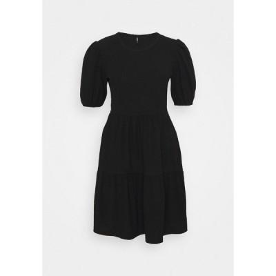 オンリー プティ ワンピース レディース トップス ONLNELLA SHORT DRESS  - Day dress - black