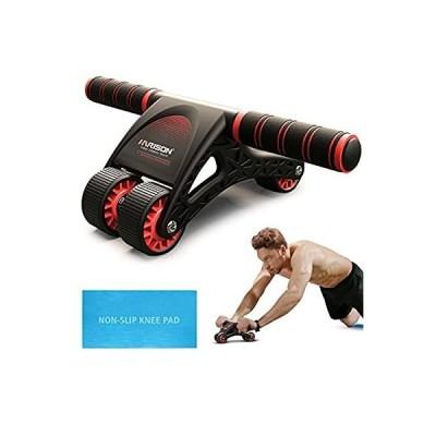 腹筋ローラー アブローラー 腹筋 エクササイズローラー 超快適な膝マット付き 静音 腹筋ローラー 初心者 女性 に適しています 416