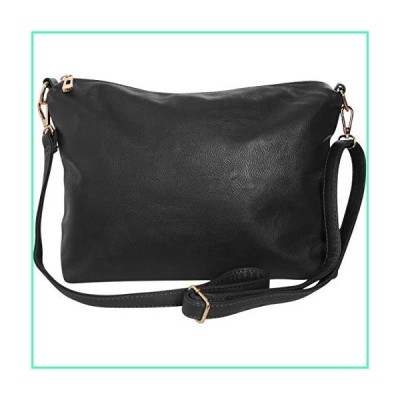 Humble Chic Crossbody Bag - Vegan Leather Satchel Messenger Handbag Shoulder Purse for Women, Includes Long Adjustable Strap and Multiple Zipper Pocke