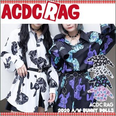 ACDC RAG エーシーディーシーラグ Pバニードールズ シャツ 長袖 パンク ロック V系 ファッション バンギャ 原宿系 原宿 韓国 病み 病みかわいい 派手カワ うさぎ