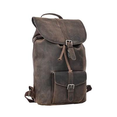 "Backpack Gusti leather studio ""Nolan"", leather backpack, uni backpack buffalo, large, vintage, dark brown 2M23-20-4wp 並行輸入品"