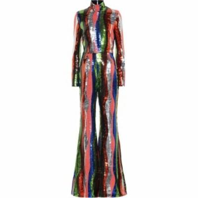 ハルパーン Halpern レディース オールインワン ジャンプスーツ ワンピース・ドレス Sequined Jumpsuit Multicolor