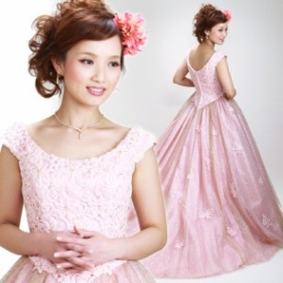 【カラードレス レンタル,11号】【プリンセスライン/ピンク】お色直し、披露宴 7259 【往復送料無料】