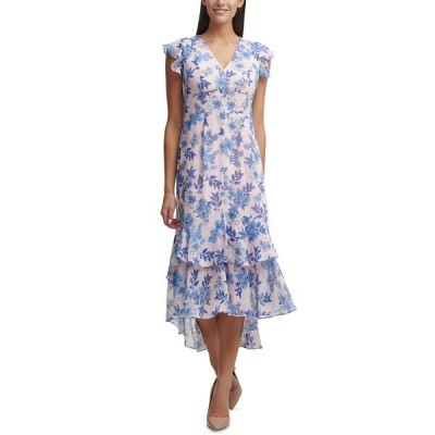 トミー ヒルフィガー ワンピース トップス レディース Petite Garden Chiffon Midi Dress Bal Pnk Ml