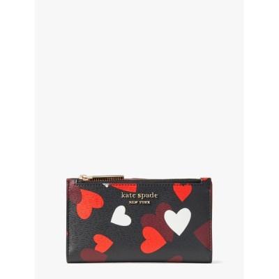 kate spade new york / スペンサー セレブレーション ハート スモール スリム バイフォールド ウォレット WOMEN 財布/小物 > 財布