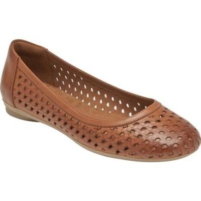 ロックポート サンダル シューズ レディース Cobb Hill Maiika Perforated Ballet Flat (Women's) Toffee Tan Full Grain Leather