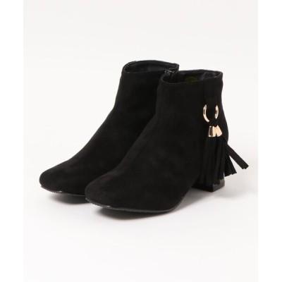 Mafmof / Realta(レアルタ) リングタッセルスクエアトゥ ショートブーツ WOMEN シューズ > ブーツ