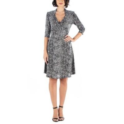 24セブンコンフォート ワンピース トップス レディース Women's Leopard Print A-Line Dress Print