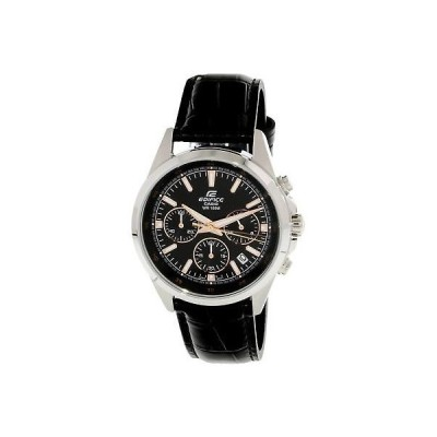 腕時計 カシオ Casio Men's Edifice EFR527L-1AV Silver Leather Japanese Quartz Fashion Watch