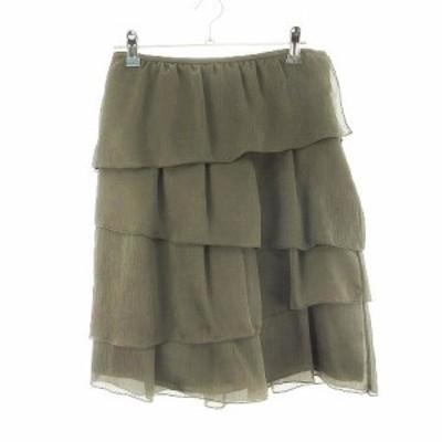 【中古】ボディドレッシングデラックス BODY DRESSING Deluxe スカート フレア ミニ 無地 38 茶 ブラウン レディース