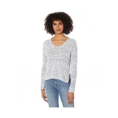Michael Stars ミッシェルスターズ レディース 女性用 ファッション セーター Phoebe Soft V-Neck Pullover Capri Sweater - Admiral Marl