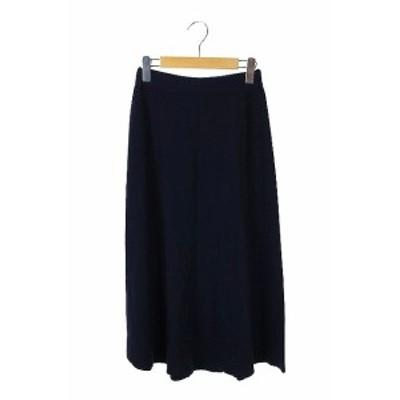 【中古】バンヤードストーム BARNYARDSTORM ニットフレアマキシスカート ロング 0 紺 /KN ■OS レディース
