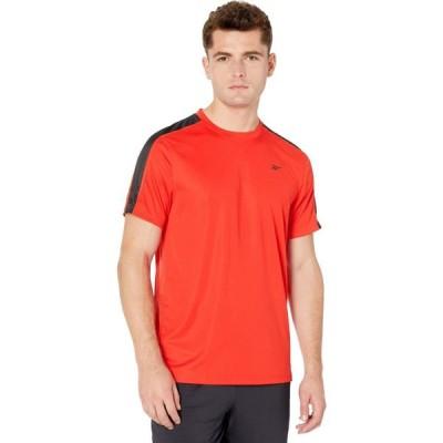 リーボック Reebok メンズ Tシャツ トップス Workout Ready Short Sleeve Tech Tee Instinct Red