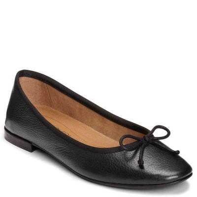 エアロソールズ サンダル シューズ レディース Homerun Flats Black Leather