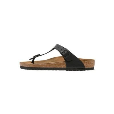 ビルケンシュトック サンダル メンズ シューズ GIZEH UNISEX - T-bar sandals - black