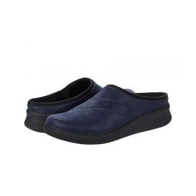 Clarks クラークス レディース 女性用 シューズ 靴 クロッグ Sillian 2.0 Clog - Navy Synthetic Combination