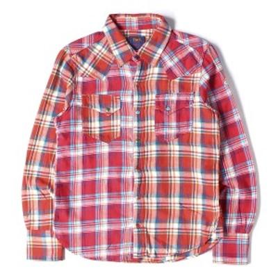 TMT シャツ 18SS インディゴ マドラスチェック ウエスタンシャツ (INDIGO MADRAS CRAZY SHIRTS) レッド S 【メンズ】【中古】【K2427】