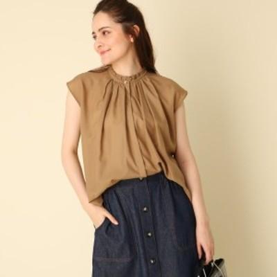 クチュールブローチ(Couture Brooch)/【WEB限定サイズ(LL)あり手洗い可】フリルスタンドネックブラウス