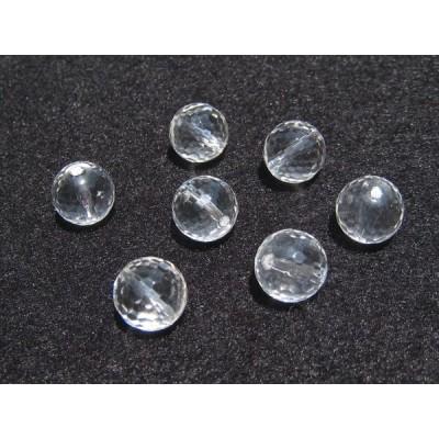 クリスタルクォーツ(水晶) AA 10mm 128面ラウンドカットビーズ