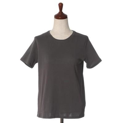 【イッツインターナショナル】 コットンTシャツ《スビン綿MIXフライス》 レディース チャコールグレー3 02 I.T.'S. international