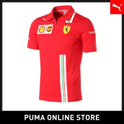 プーマ メンズ ポロシャツ PUMA フェラーリ チーム ポロシャツ 半袖