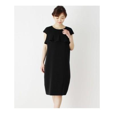 【42(LL)WEB限定サイズ】ラッフルサックドレス