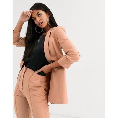 エイソス レディース ジャケット・ブルゾン アウター ASOS DESIGN mix & match tailored suit blazer Blush