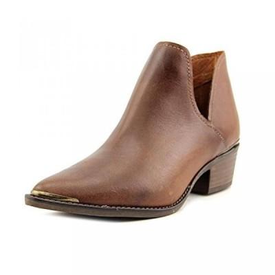 スティーブマッデン レディース ブーツ Steve Madden Tempe Women Pointed Toe Leather Brown Ankle Boot