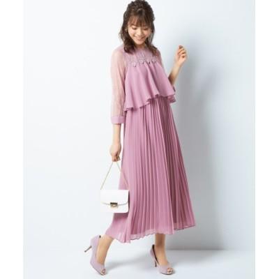【大きいサイズ】 ヨークレース使いロングワンピース(プライベートレーベル) ワンピース, plus size dress