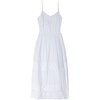 SISTE' S ロングワンピース&ドレス ホワイト L コットン 100% ロングワンピース&ドレス