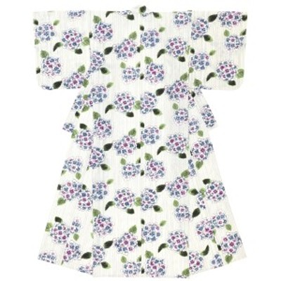 浴衣 レディース クリーム系 薄紫 紫陽花 雨縞 レトロモダン 綿 夏祭り 花火大会 女性用 仕立て上がり【Sサイズ】【フリーサイズ】