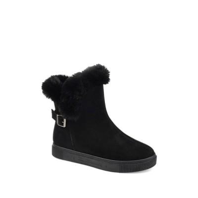 ジャーニーコレクション レディース ブーツ&レインブーツ シューズ Sibby Faux Fur Lined Boot BLACK
