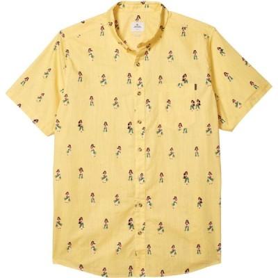 リップカール Rip Curl メンズ 半袖シャツ トップス Vacation Short Sleeve Shirt Yellow