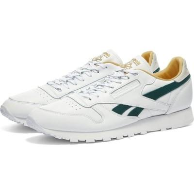 リーボック Reebok メンズ スニーカー シューズ・靴 classic leather White/Gold/Forest Green