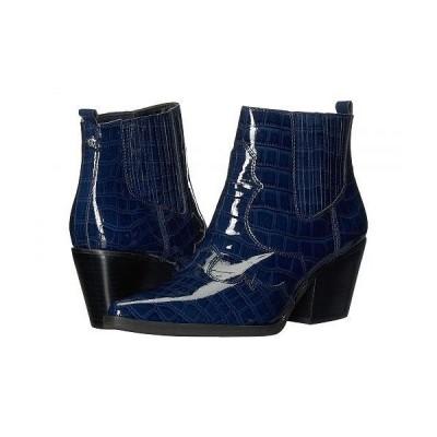 Sam Edelman サムエデルマン レディース 女性用 シューズ 靴 ブーツ アンクル ショートブーツ Winona - Baltic Navy Soft Croco Patent Leather