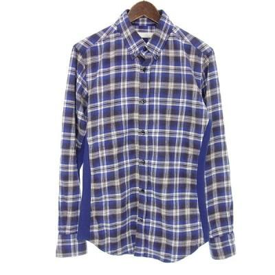 ジュンハシモト/JUN HASHIMOTO サイドリブチェックシャツ 62B21 サイズ メンズ4 ブルー ランクB 101  (中古)