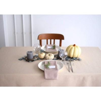 テーブルクロス ブルーミング中西 デリシャスカラー 撥水加工 (日本製) 正方形 無地 洗濯機で洗える 2人用テーブル向け バニラ (ベージ