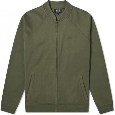 アーペーセー A.P.C. メンズ ブルゾン ミリタリージャケット アウター armand jersey bomber jacket Military Khaki