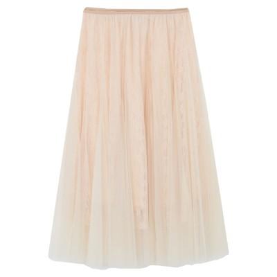 AMY LYNN ロングスカート ライトイエロー M/L ポリエステル 100% ロングスカート