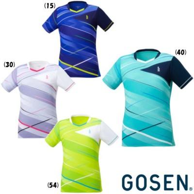 送料無料◆GOSEN◆2020年6月発売 レディース  ゲームシャツ T2047 ゴーセン テニス バドミントン ウェア