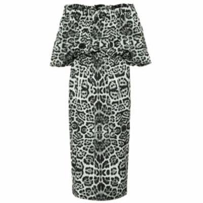 ドリス ヴァン ノッテン Dries Van Noten レディース ワンピース ミドル丈 ワンピース・ドレス Leopard-print off-shoulder midi dress D