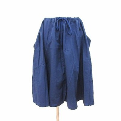 【中古】ルグラジック Le glazik フレアスカート ひざ丈 36 紺 ネイビー /CT レディース