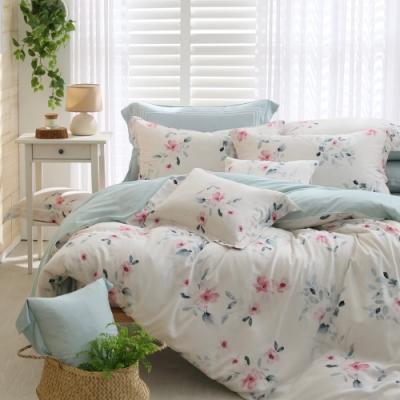 OLIVIA  蘿拉 雙人床包兩用被套四件組  300織數位印花天絲萊賽爾 台灣製