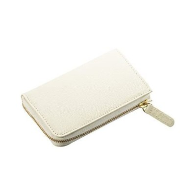 (コラーレ) corale 財布 コンパクト レディース コインケース 小銭入れ プリズムレザー カードケース (アイボリーホワイト)